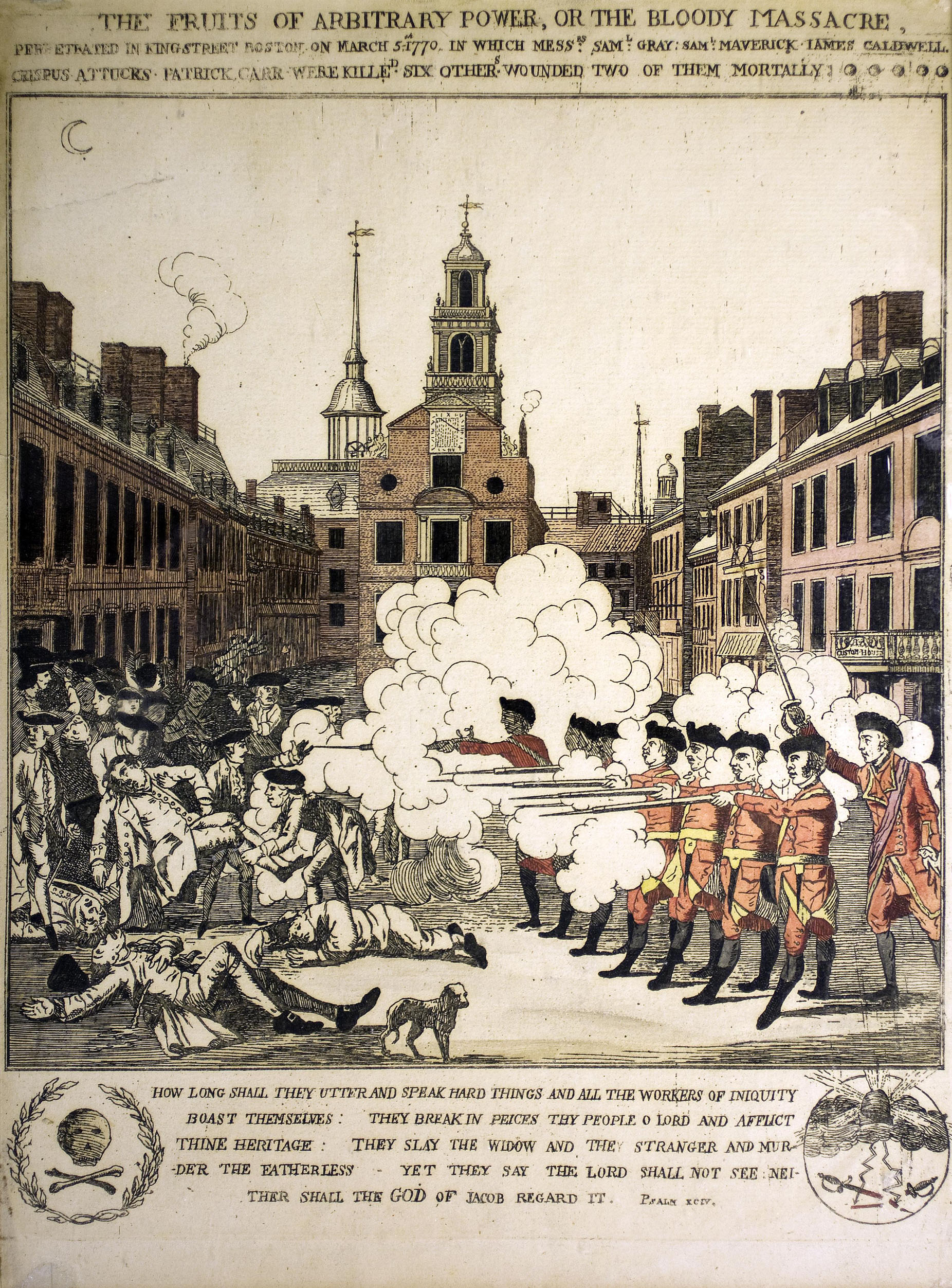 paul revere s bloody massacre the printshop window pelham s edition