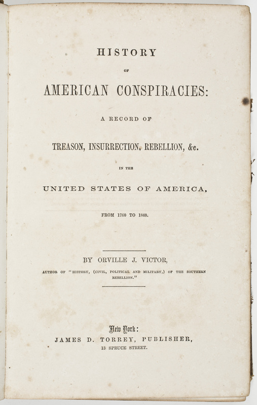 History of American Conspiracies