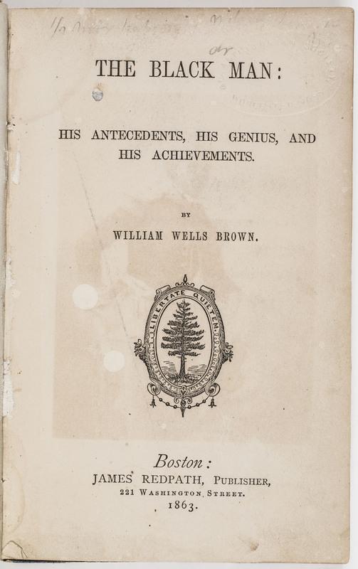 Black Man, His Antecedents, His Genius, and His Achievements
