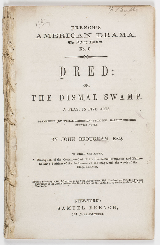 dred or the dismal swamp