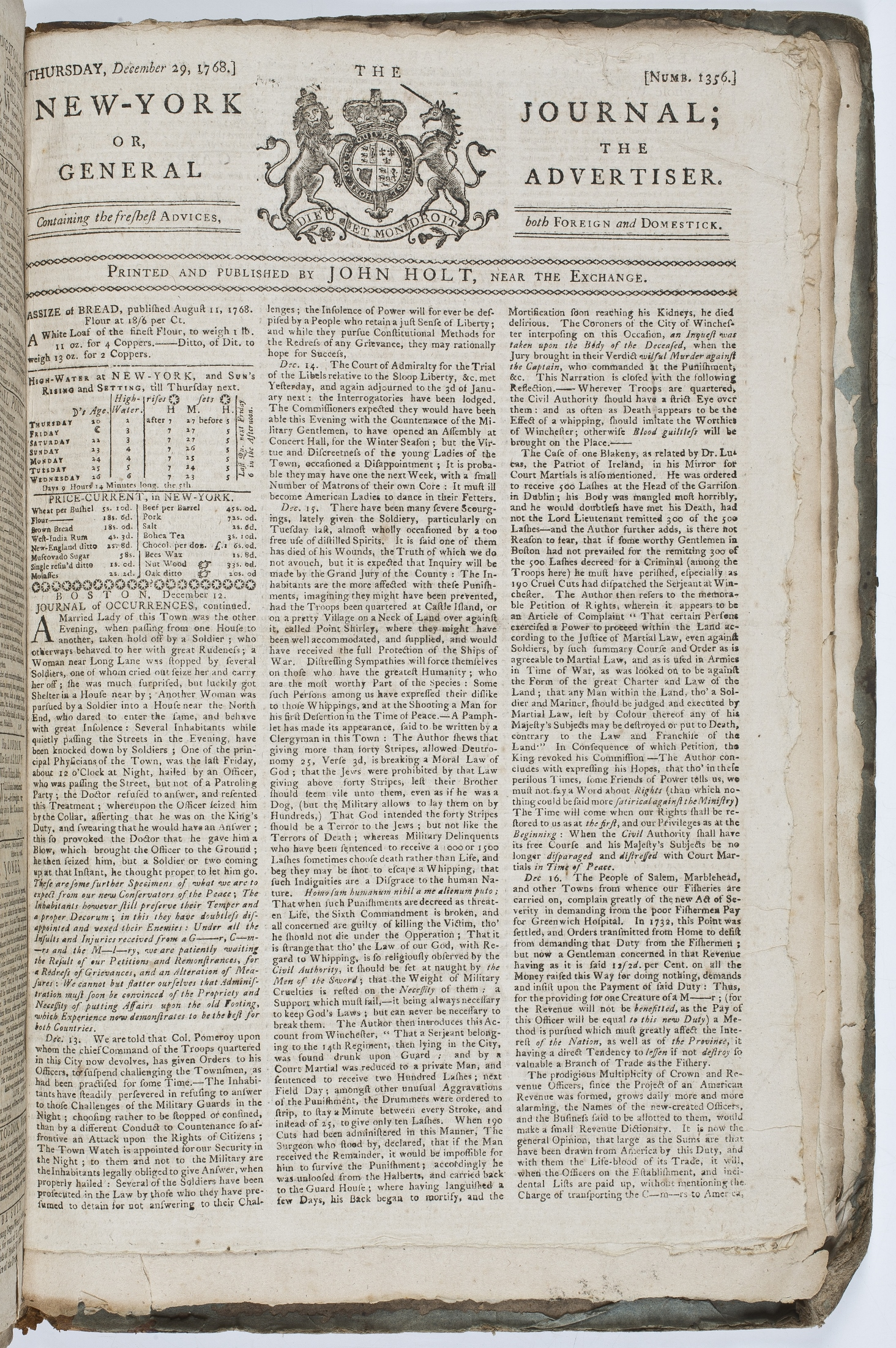 """Occupation Spreading >> """"Journal of Occurrences"""" · The News Media and the Making of America, 1730-1865"""
