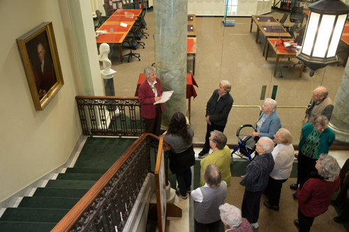 Tour group at Antiquarian Hall