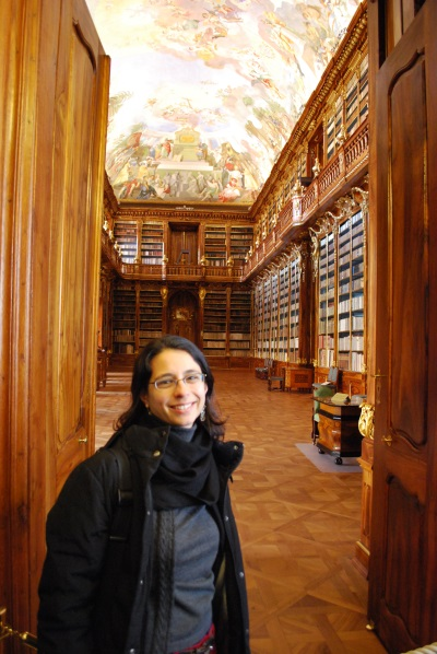 Nadia Sophie Seiler at the Strahov Monastery Library in Prague