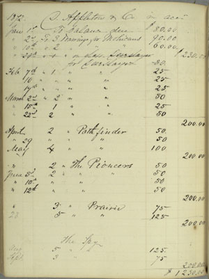 Darley Account Book