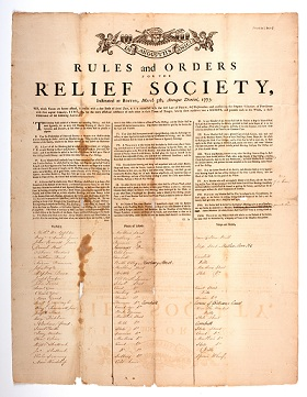 Rules and Orders for the Relief Society