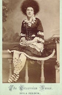 Photograph of Circassian performer Zula Zelick.></a><a href=