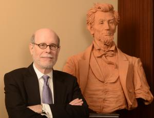 Harold Holzer and Abraham Lincoln bust