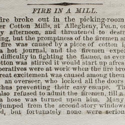 Fire in a Mill