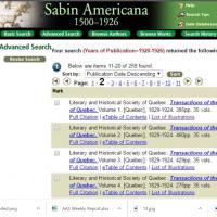 Sabin Americana, 1500-1926