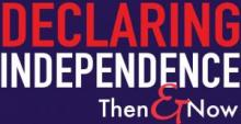 Logo for Declaring Independence Then and Now