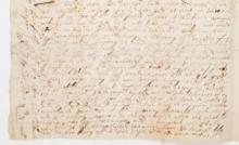 Noah Newman to John Cotton, March 14, 1676. Curwen Family Papers, AAS