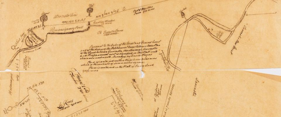 Map from mss. collections