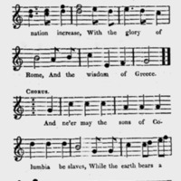 "Sheet Music for ""Adams and Liberty"" Part 2"