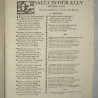 Sally in our ally [sic] together with Murtock Delarney's travels and return to Ballinafad