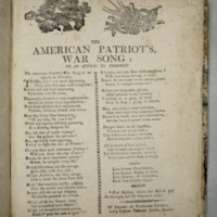 The American patriot's war song: or An appeal to freemen