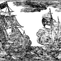 "Woodcut for Most brilliant aval [sic] victory on Lake Erie : Glorious news!!! Enough to stop the boasting and bragging of our English and Tory enemies, for a time Commodore Perry has the honor of conquering a whole squadron of His Royal Majesty's subjects and allies The United States' flag, rides triumphant on Lake Erie ""Tune, Paul Jones' victory"""