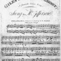 "Sheet Music for ""Giles Scroggins' Ghost"""