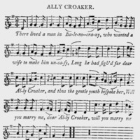 "Sheet Music for ""Ally Croaker"""