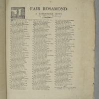 Fair Rosamond : a lamentable ditty