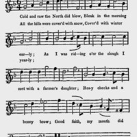 "Sheet Music for ""Cold and raw the North did blow"""