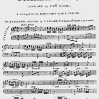 """Sheet Music for """"Cease Ye Fountains, Cease to Murmer"""""""