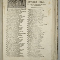 Battle of Bunker Hill. This song was composed by the British after the engagement