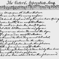 """Sheet Music for """"The Enter'd Apprentice's Song"""""""