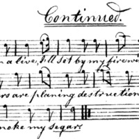 "Sheet Music for ""Segar Song Continued"""