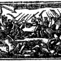 Woodcut for The Death of General Wolfe: : together with John Bull's description of a church