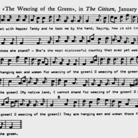 """Sheet Music to the tune of """"The Wearing of the Green"""""""