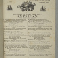 Columbia and independence, a new patriotic song Dedicated to every free born American. Tune--Adams and liberty