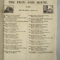 The Frog and mouse, or The frog he would a wooing go