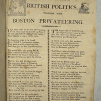 An Irishman's observations on British politics, together with Boston privateering
