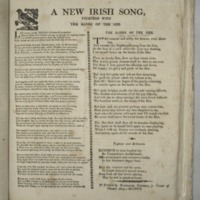 A New Irish song, together with the Banks of the Dee