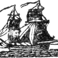Woodcut for Cash in hand, : occasioned by the capture of the British packet Swallow, by Commodore Rodgers With 260,000 dollars, in gold and silver on board