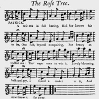 "Sheet Music for ""The Rose Tree"""