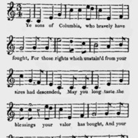 "Sheet Music for ""Adams and Liberty"""