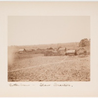 Cotton scene - slave quarters