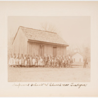 Improved school and church near Tuskegee