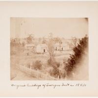 Original buildings at Tuskegee Inst. in 1882