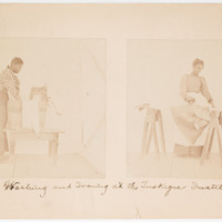 Washing and ironing at the Tuskegee Institute.
