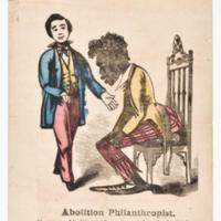 Caricature of Slave and Abolitionist   <br /> <br />